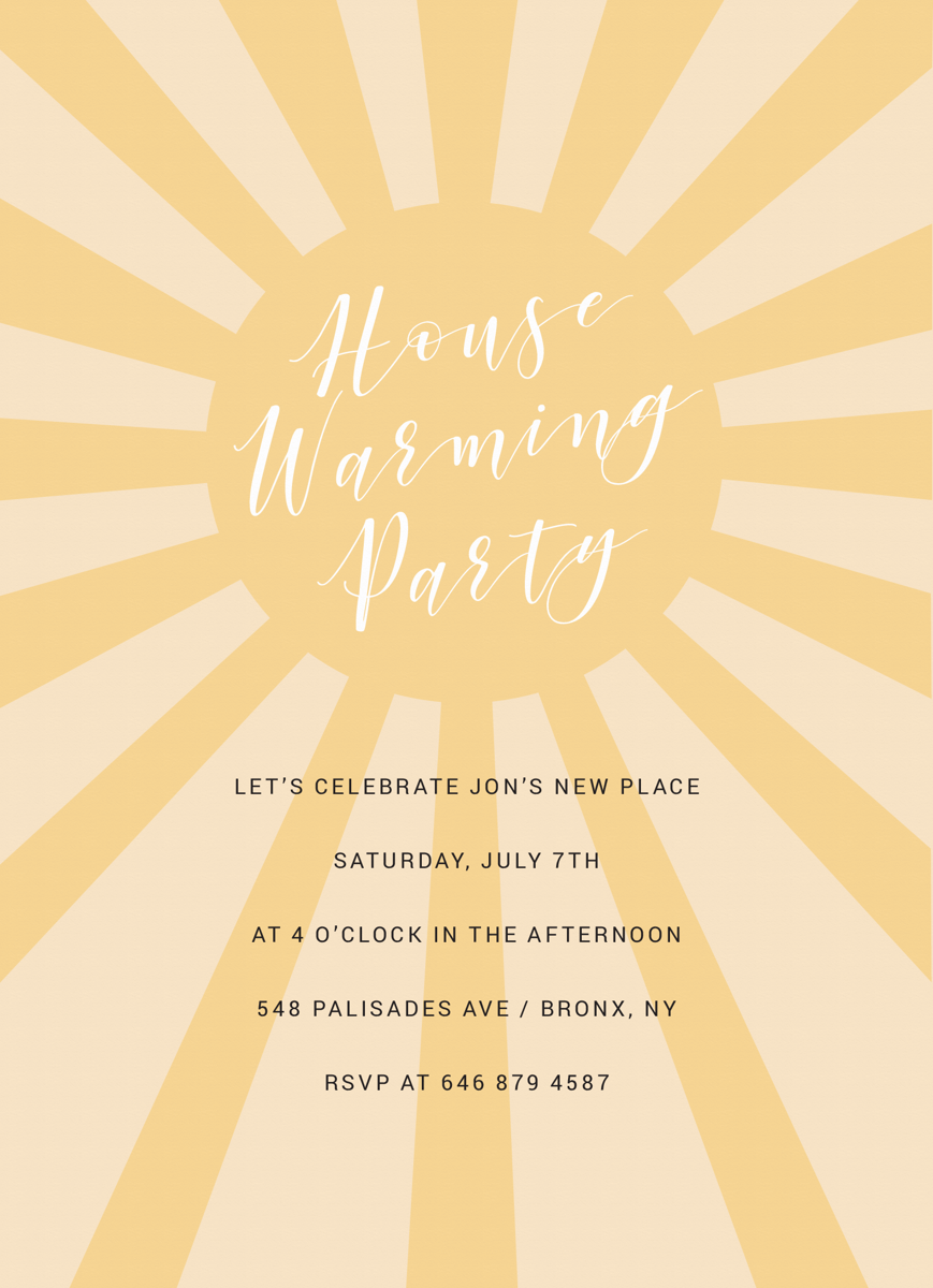 Sunny Housewarming Party