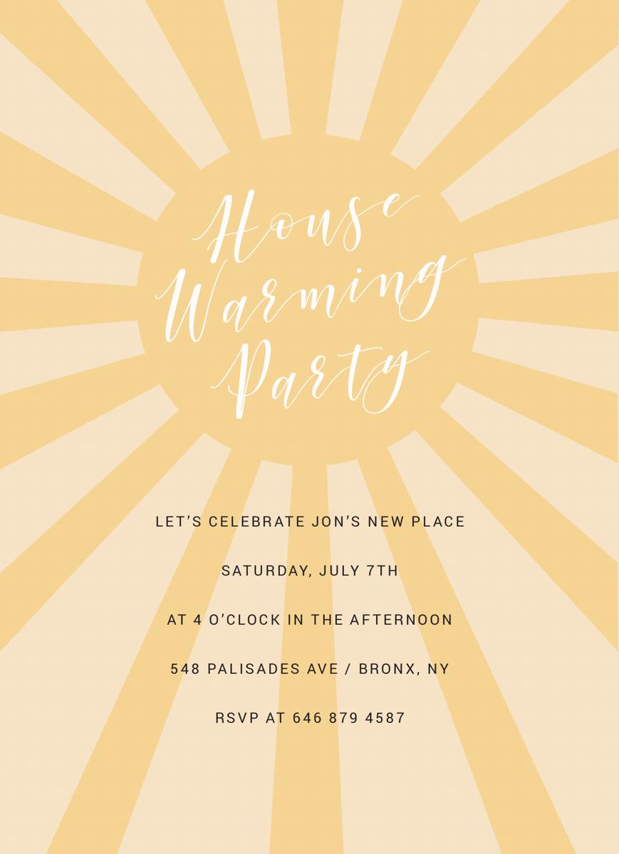 Sunny Housewarming Party