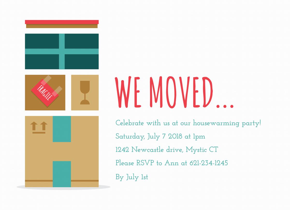 We Moved Housewarming