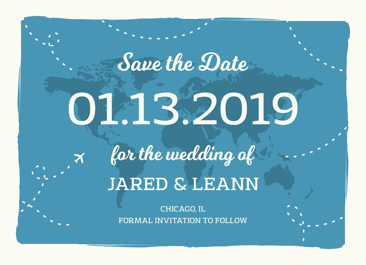 Map Save The Date