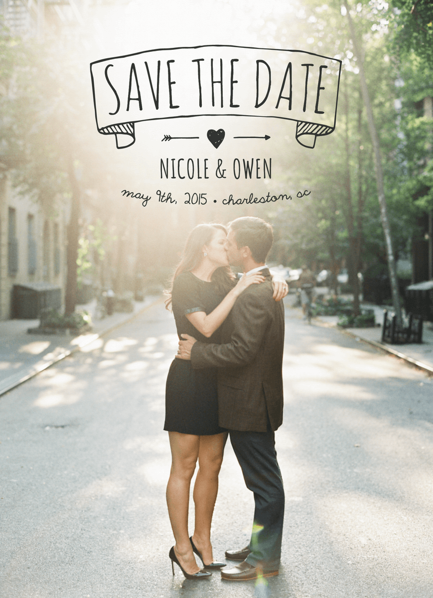 Rustic Banner Save The Date