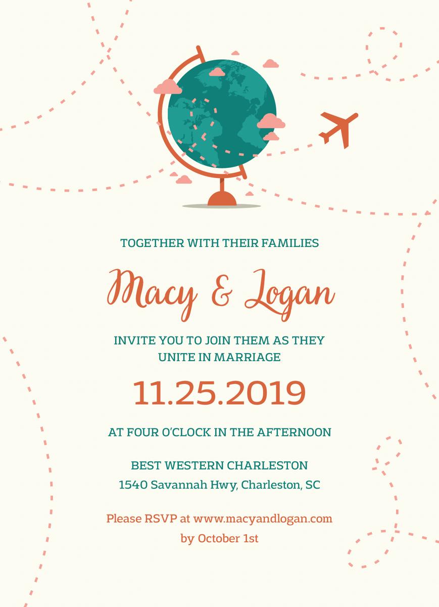 Globe Invitation