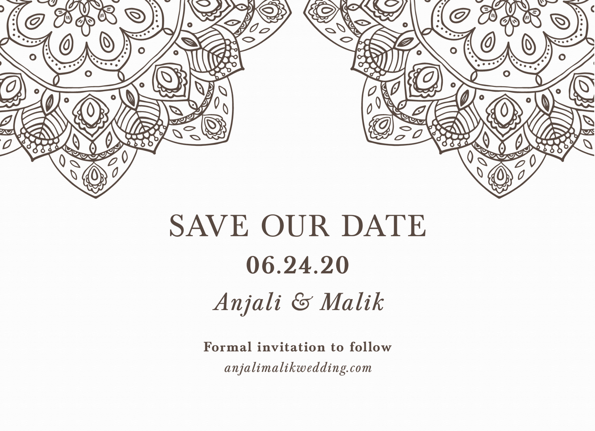 Henna Save The Date