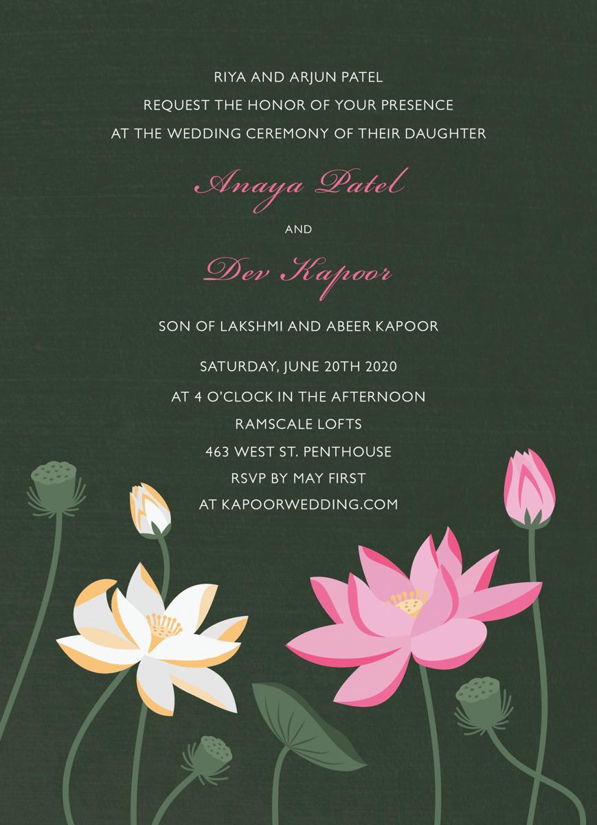 Lotus Invitation