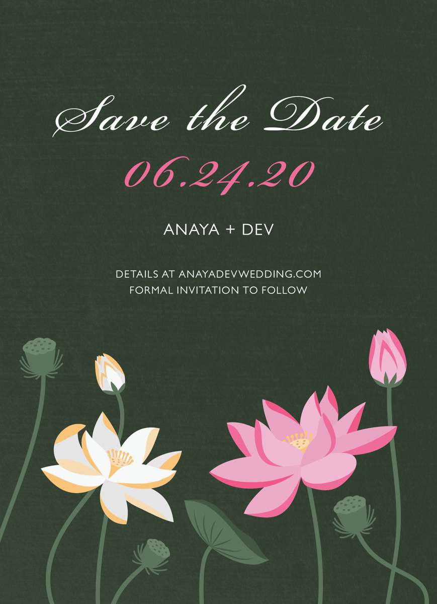 Lotus Save The Date