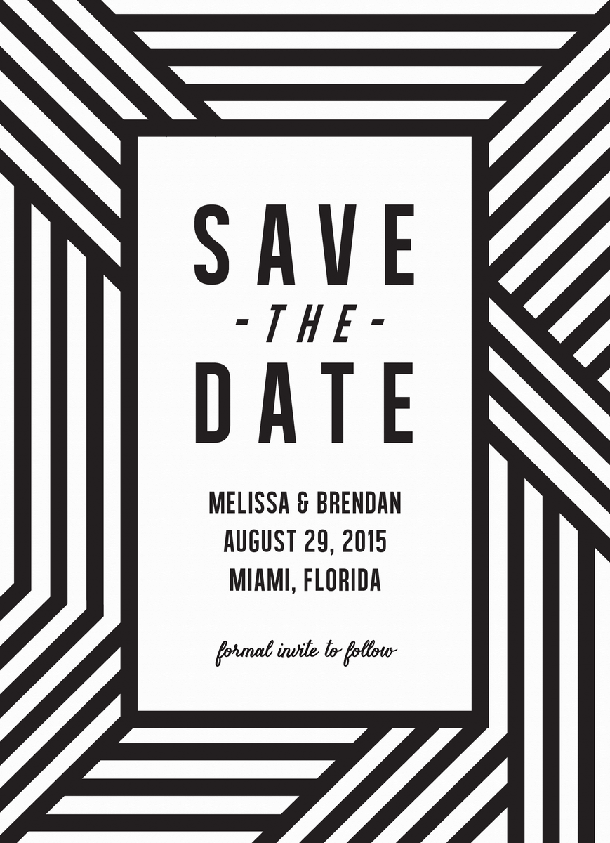 Bold Lines Save the Date