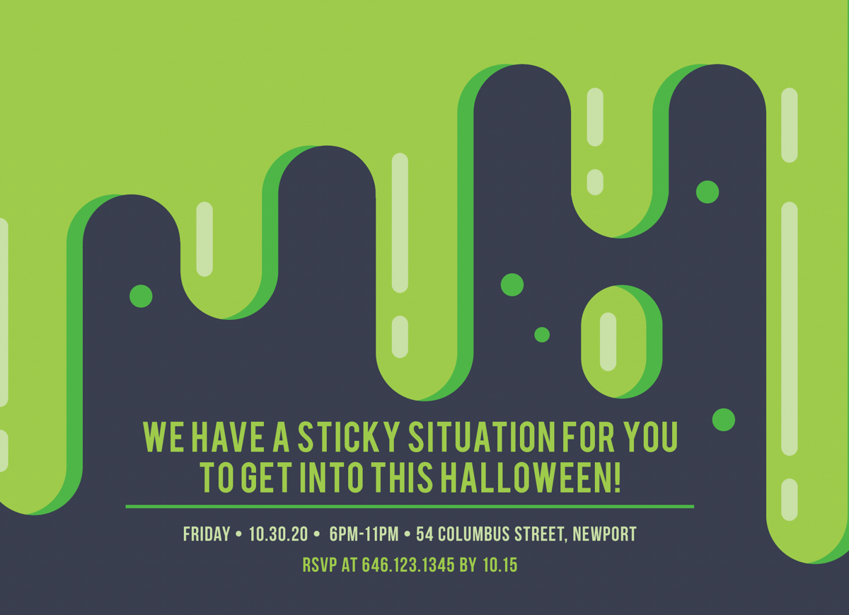 Sticky Situation Halloween Party
