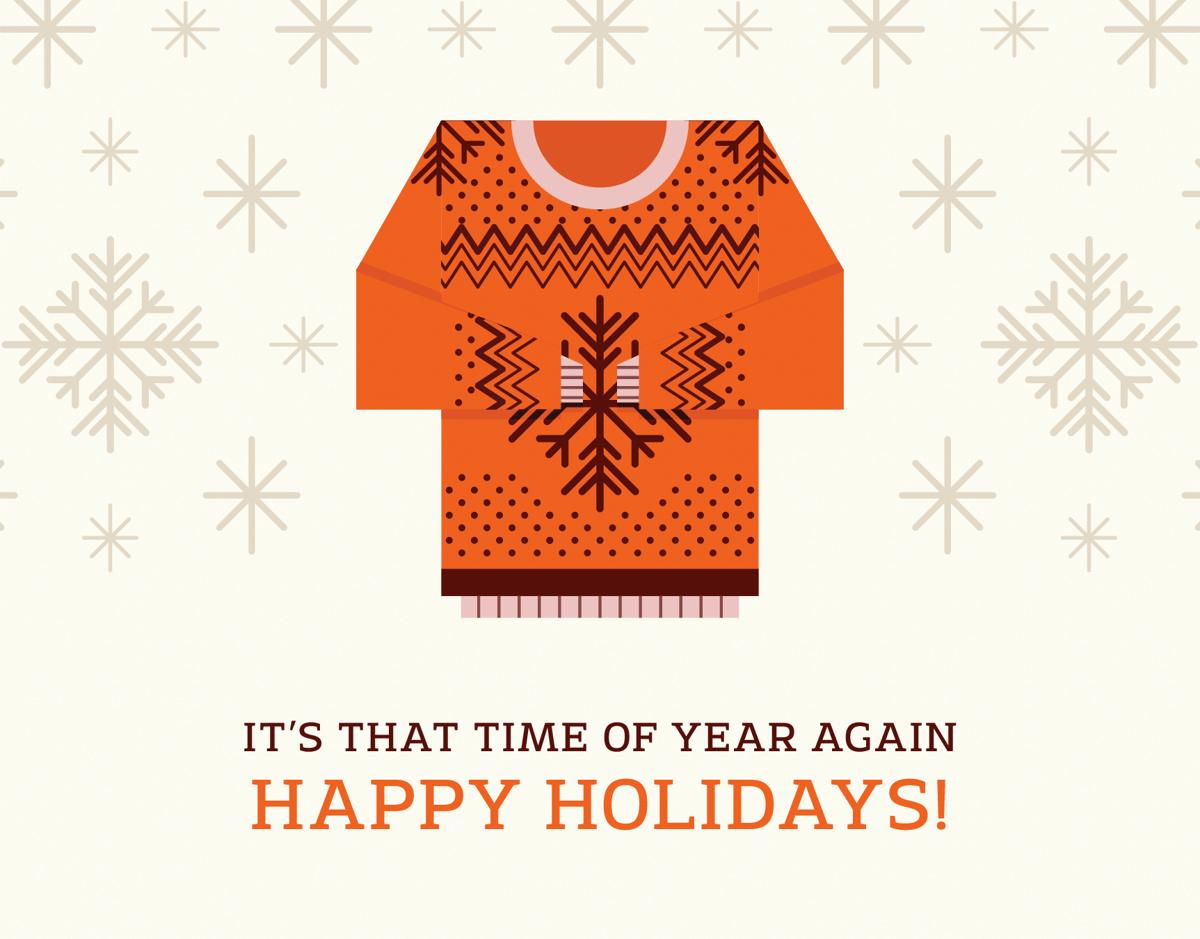 sweater season holiday card