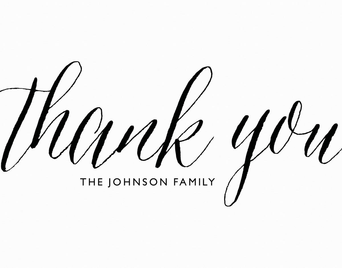 Polished Traditional Thank You Note