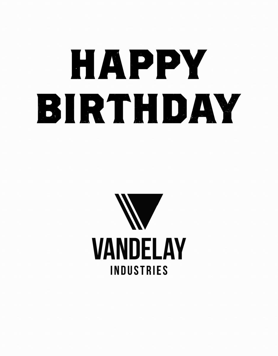 Business Birthday With Logo