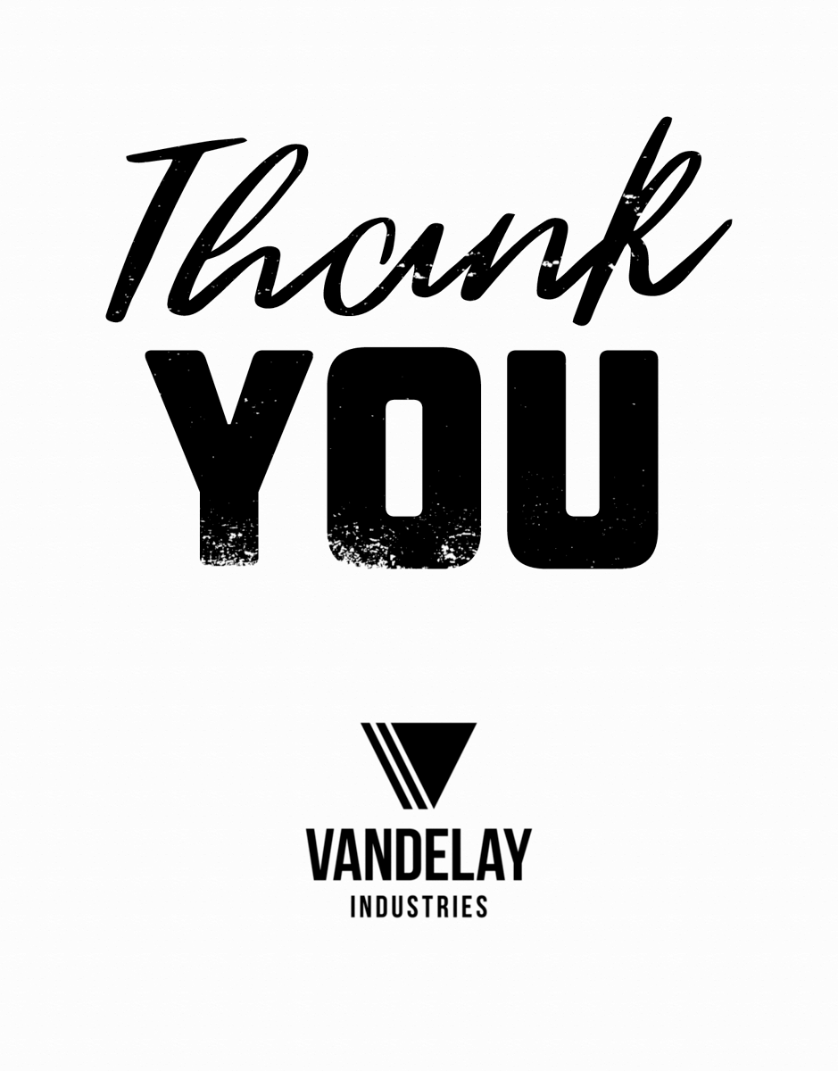 Bold Thank You With Logo