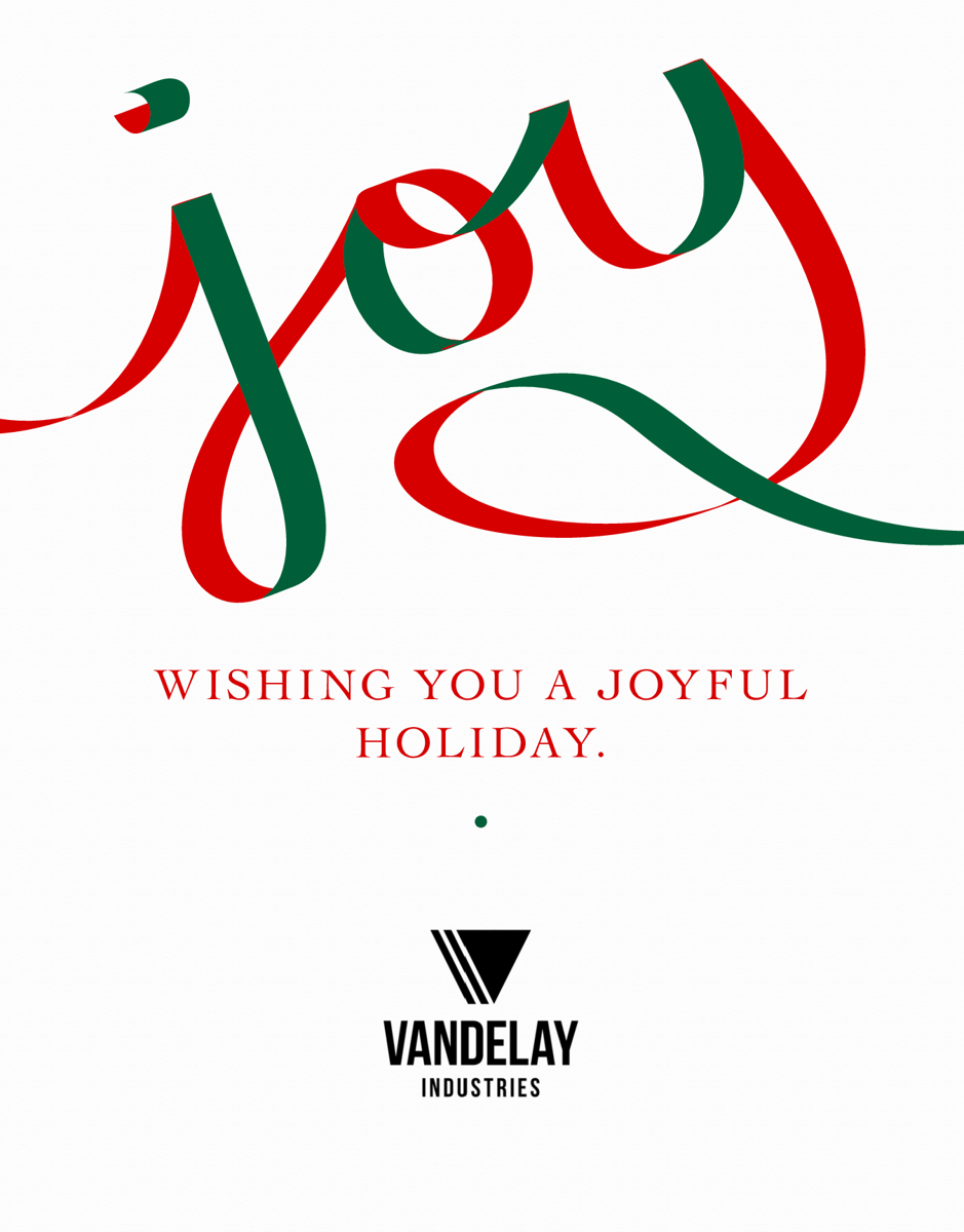 joy business holiday card with logo