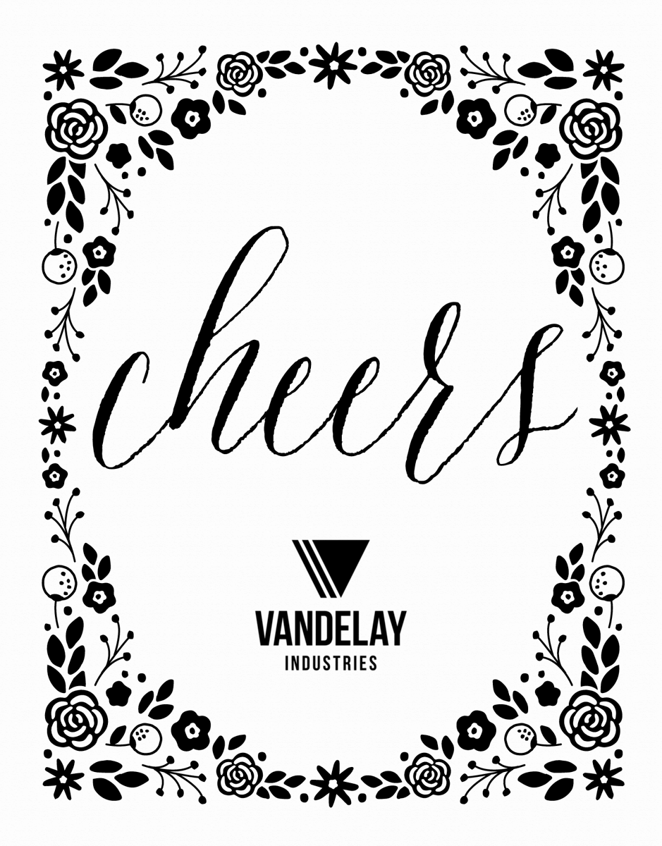Floral Cheers Frame