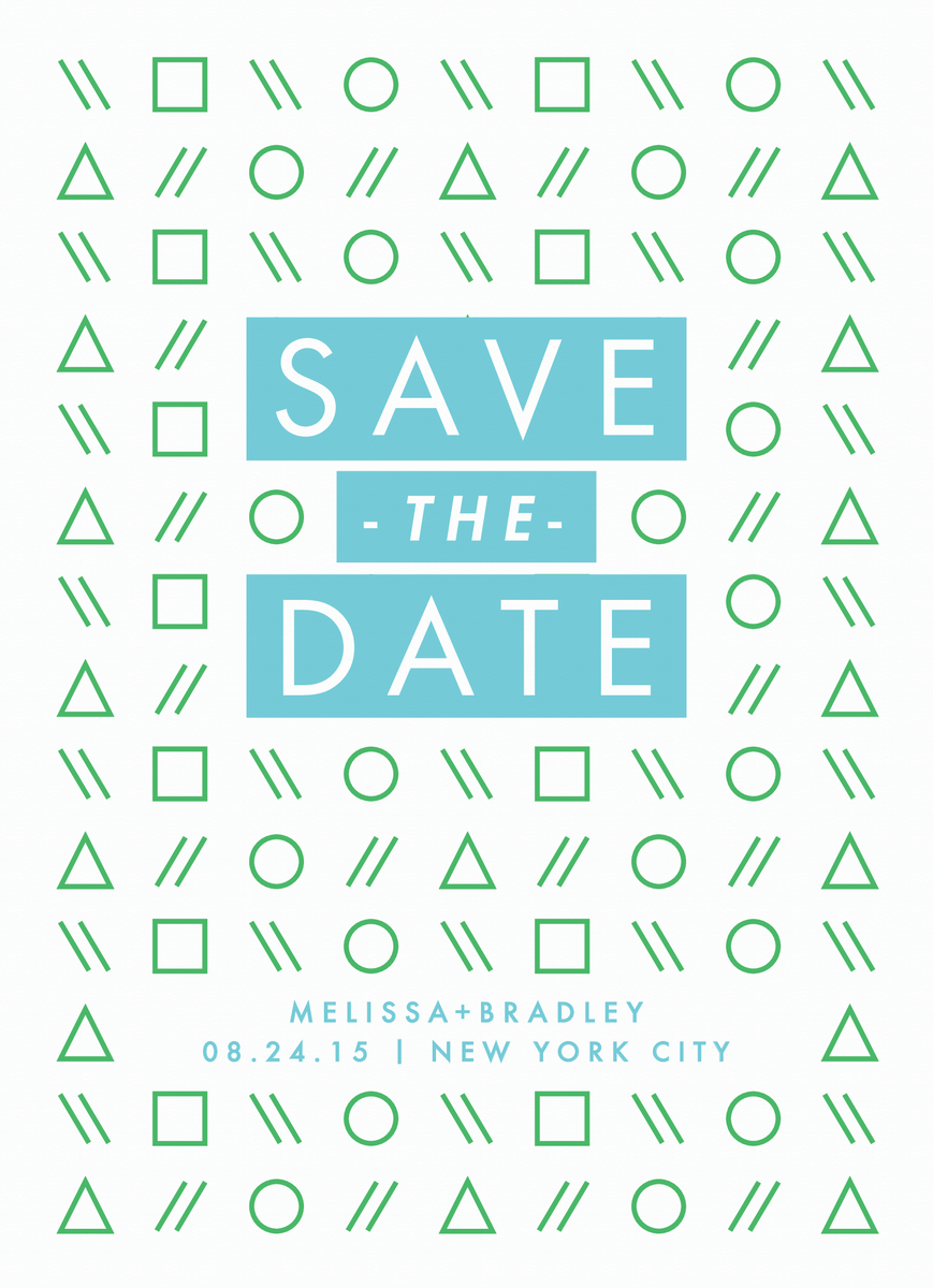 Shapes Save the Date