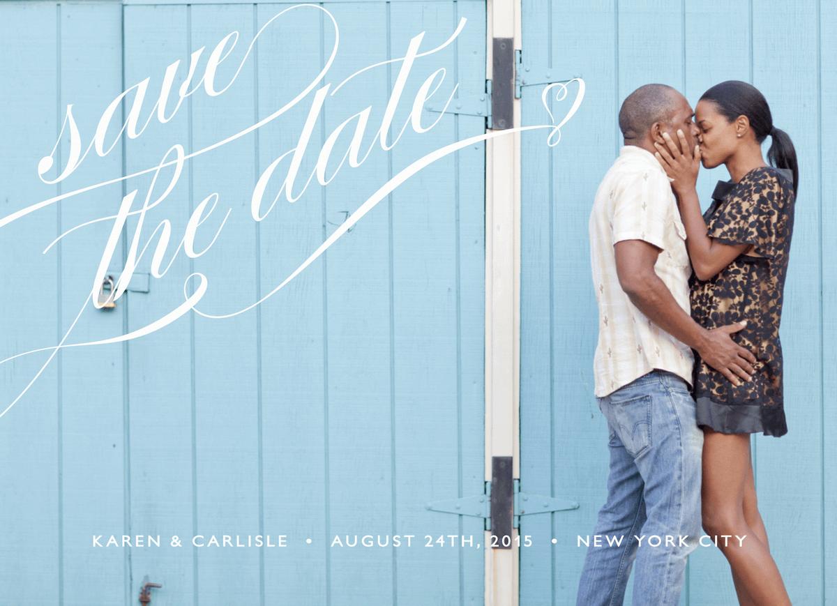 Elegant Script Save the Date