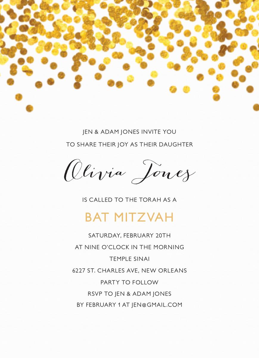 Confetti Bat Mitzvah