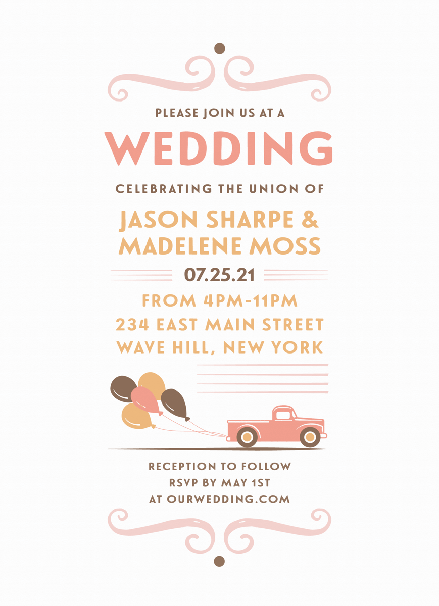 Newlyweds Invite