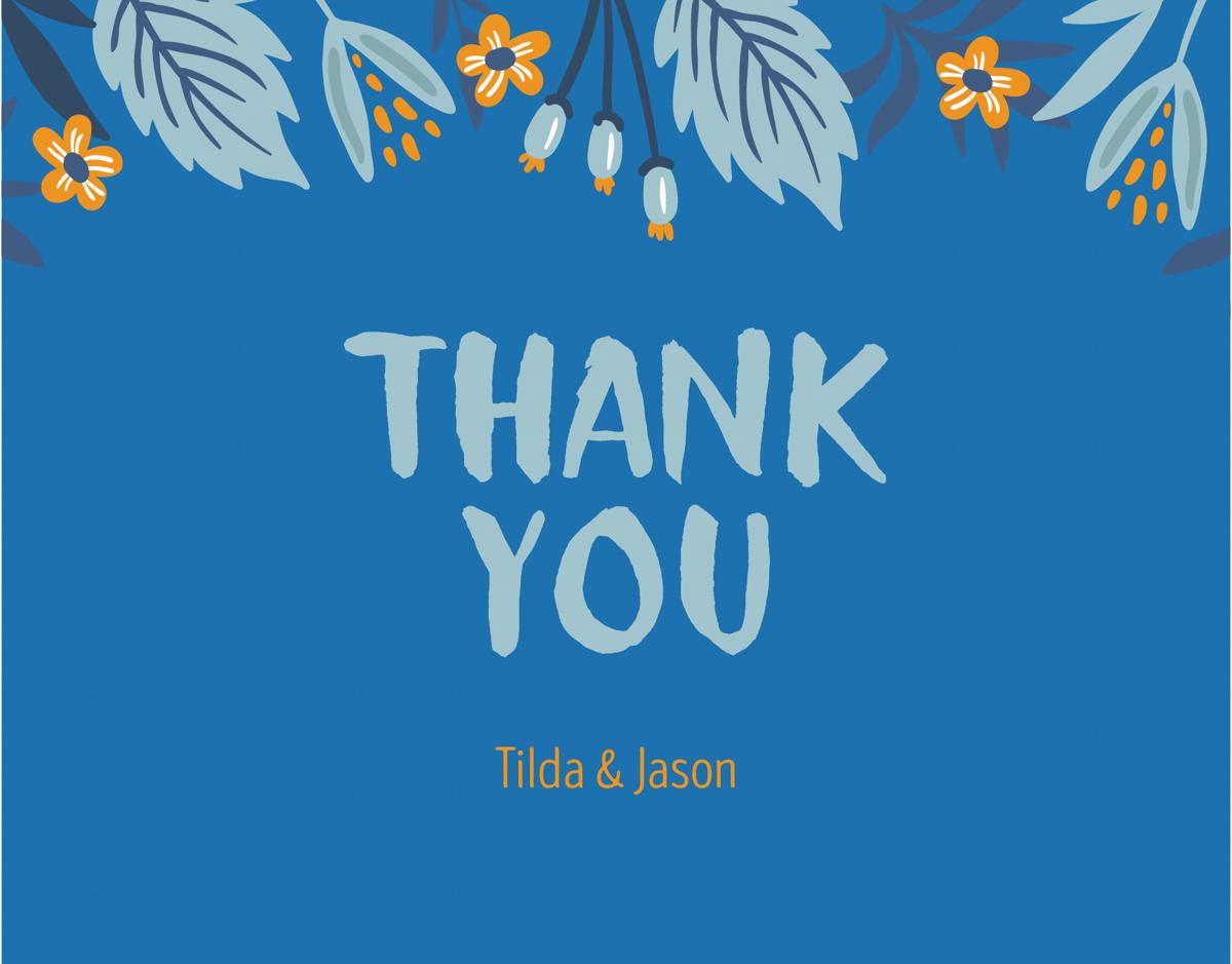 Blue Botanical Thank You