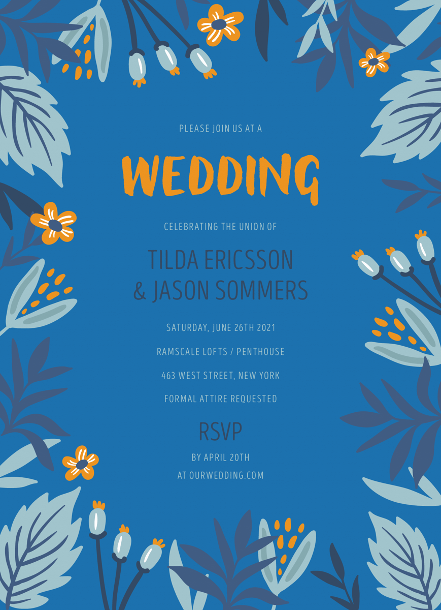Blue Botanical Wedding