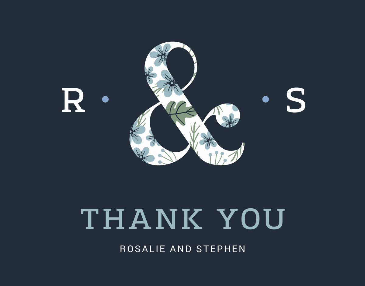 Floral Ampersand Thank You