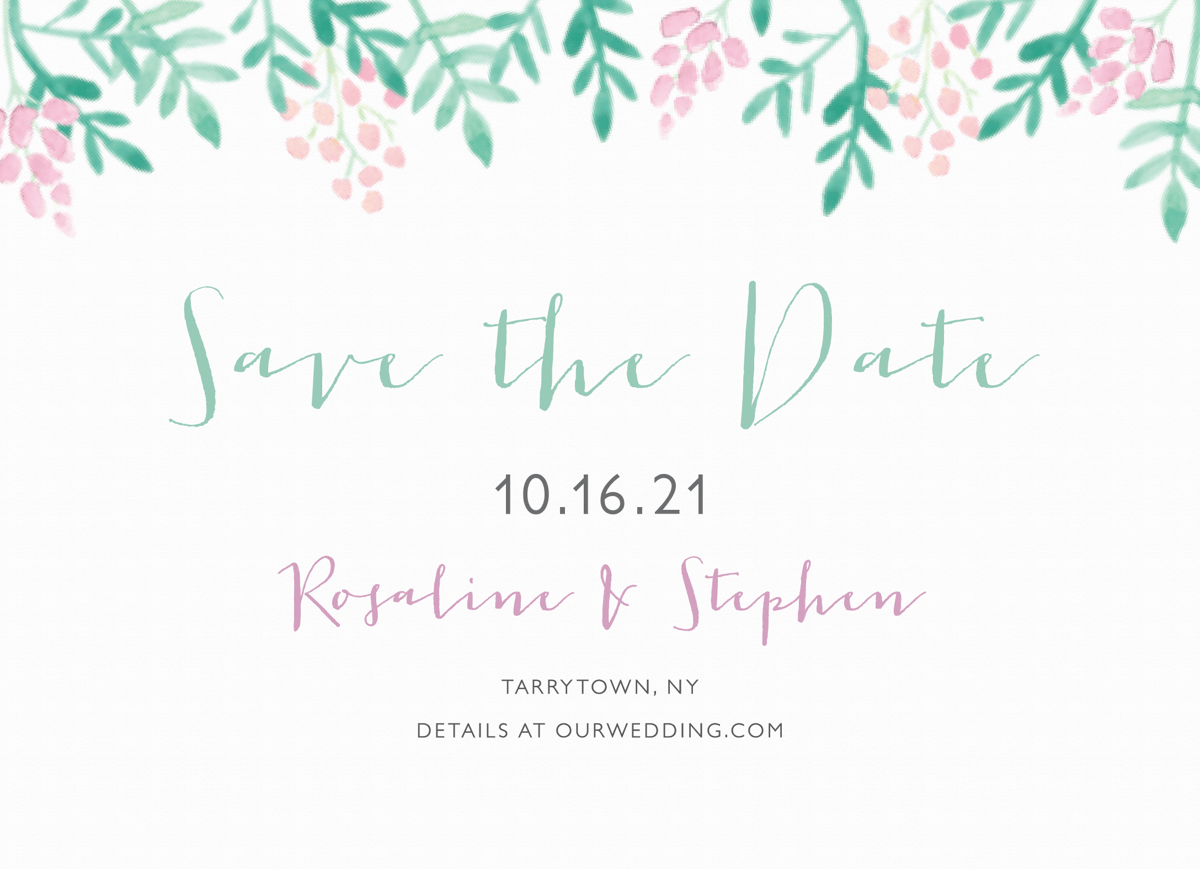 Lovely Lilacs Save The Date
