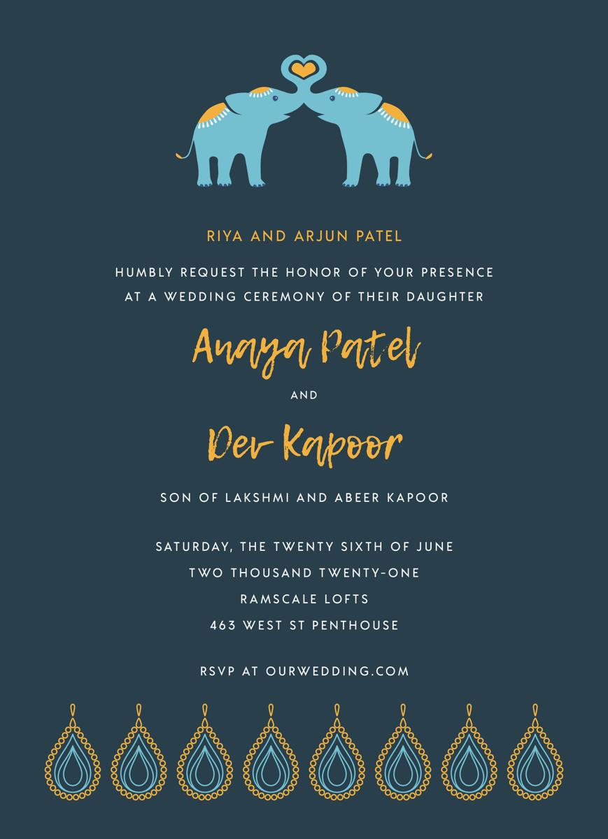 Elephant Love Invite