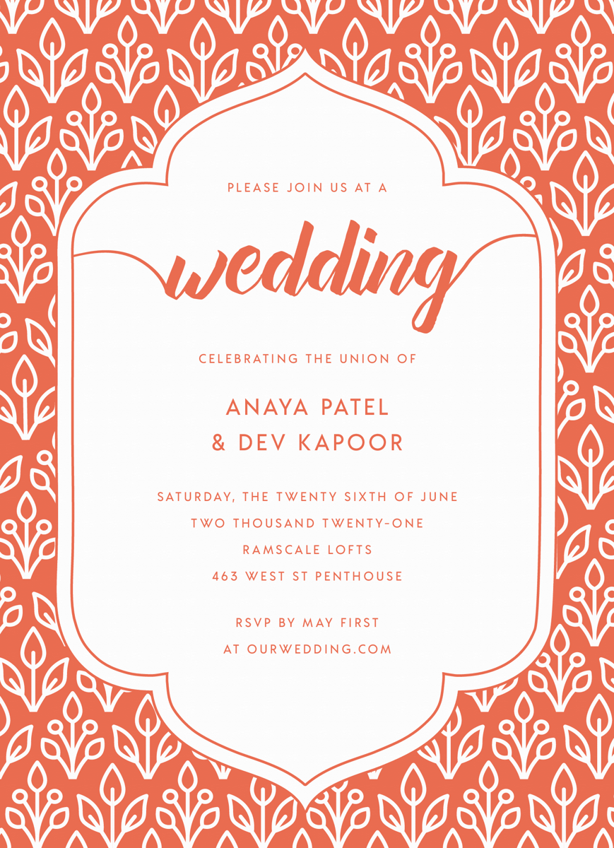Floral Wallpaper Invite