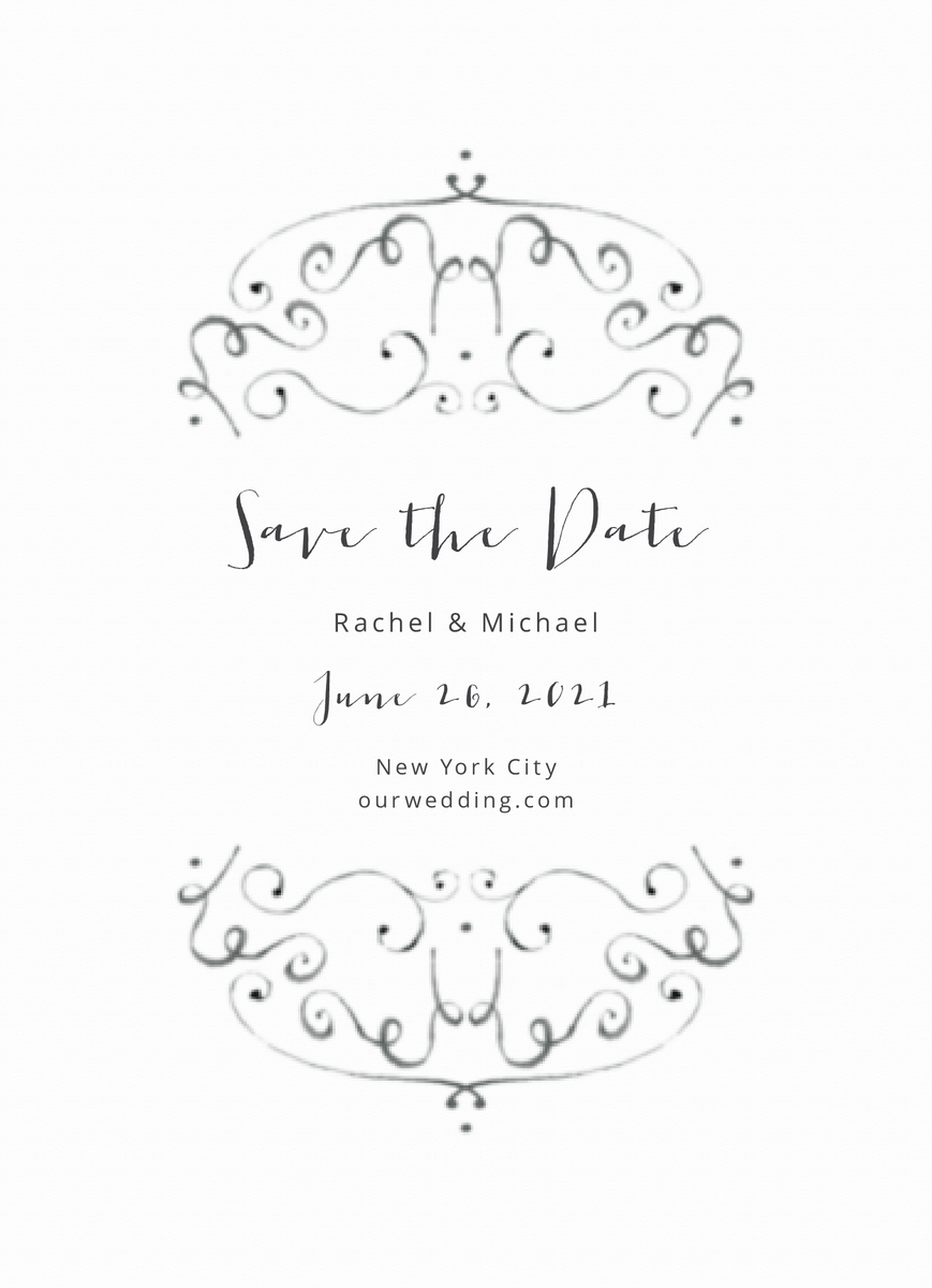 Airy Ornament Save The Date