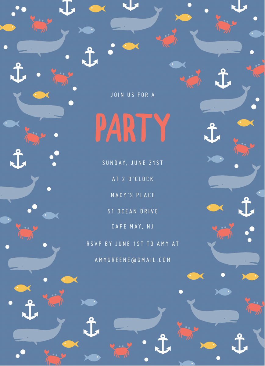 Nautical Party Invite