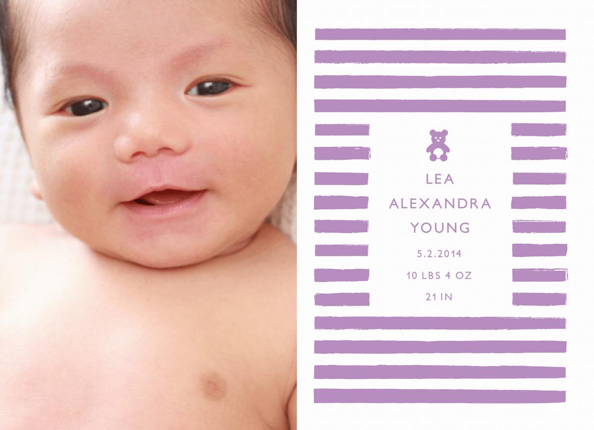 Teddy Violet Birth Announcement