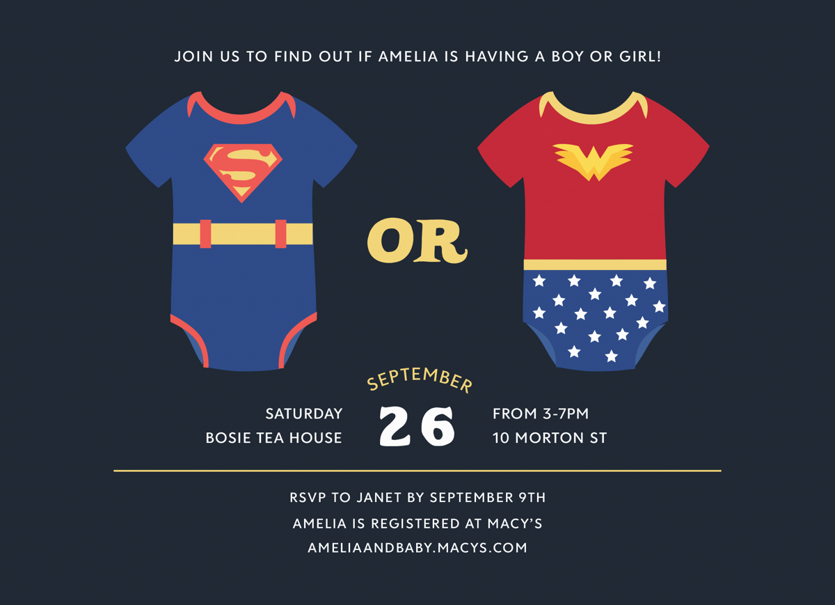 Superhero Gender Reveal