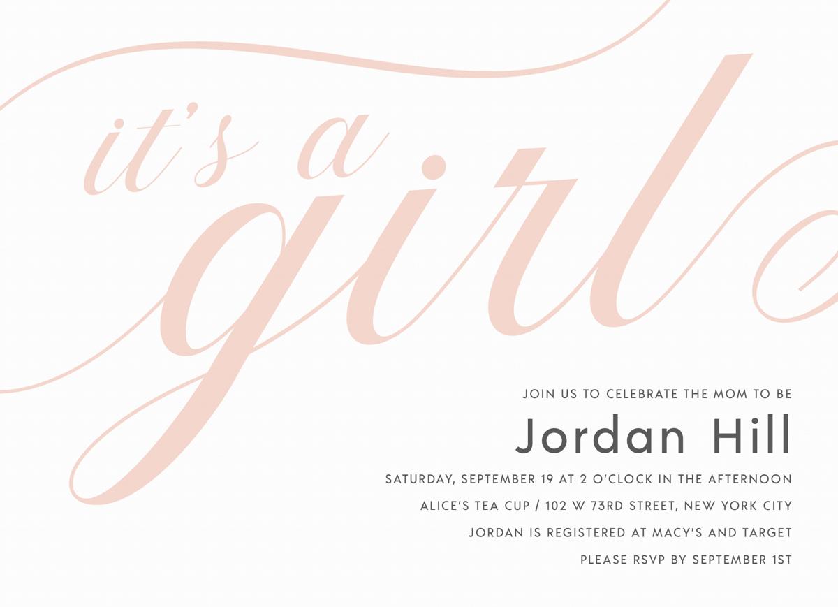 It's A Girl Script