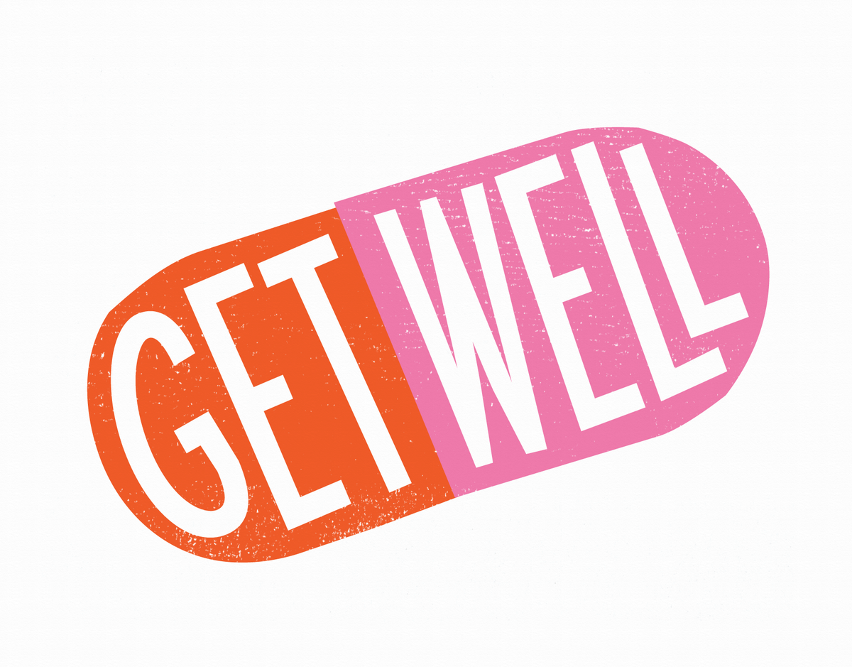 Get Well Pill Card