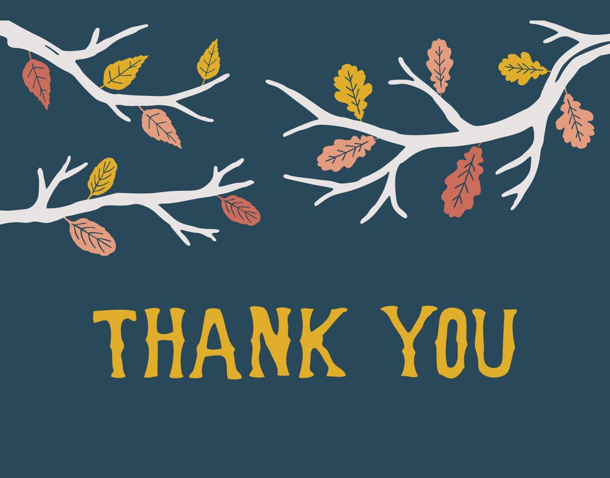 Fall Thank You