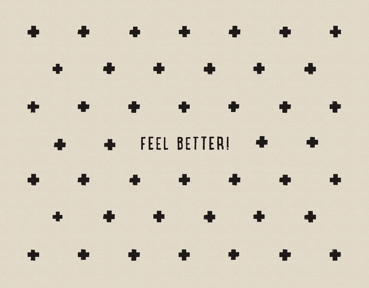 Feel Better Card with Crosses