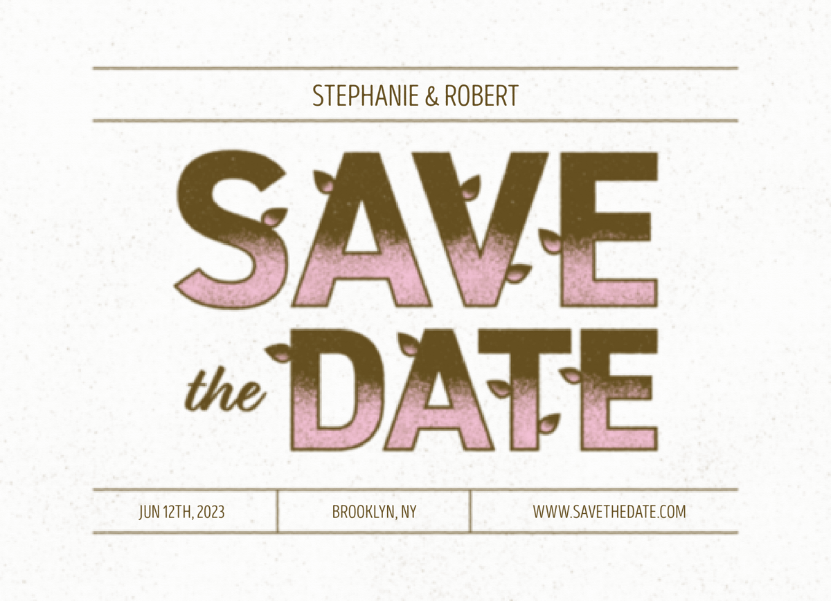 Vintage Plants Save The Date