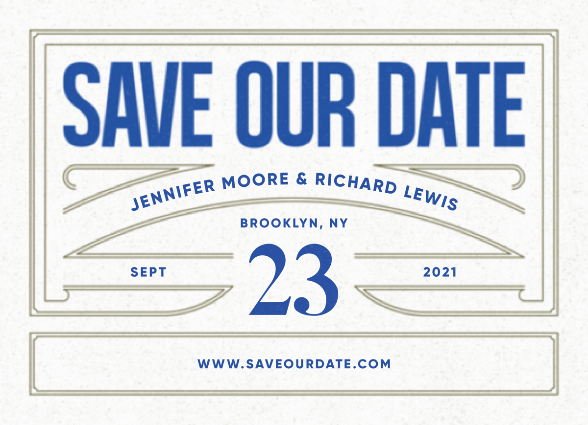 Ribbon Save The Date