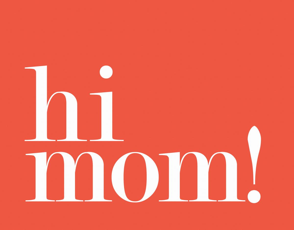 Bold Red Hi Mom Card