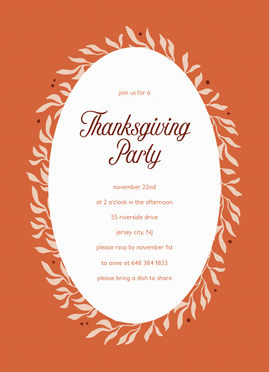 Orange Thanksgiving Party