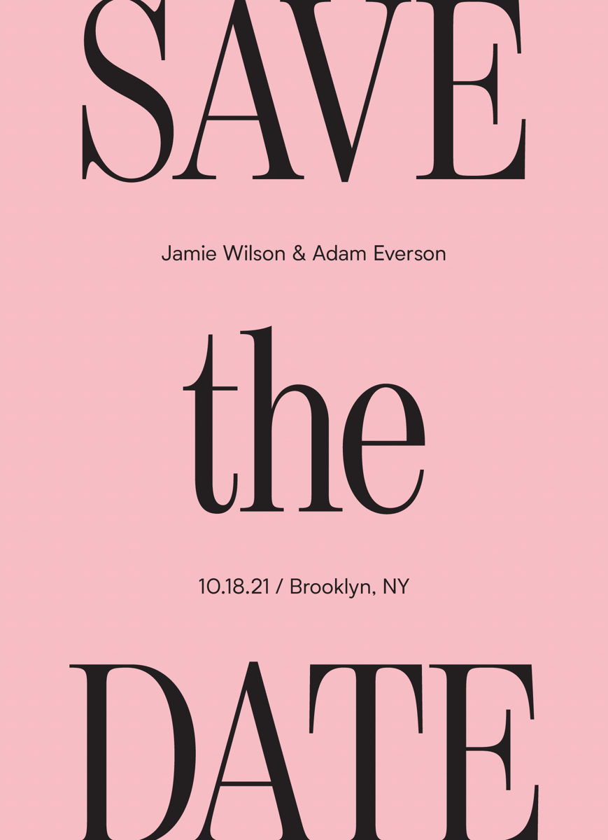 Modern Serif Save The Date