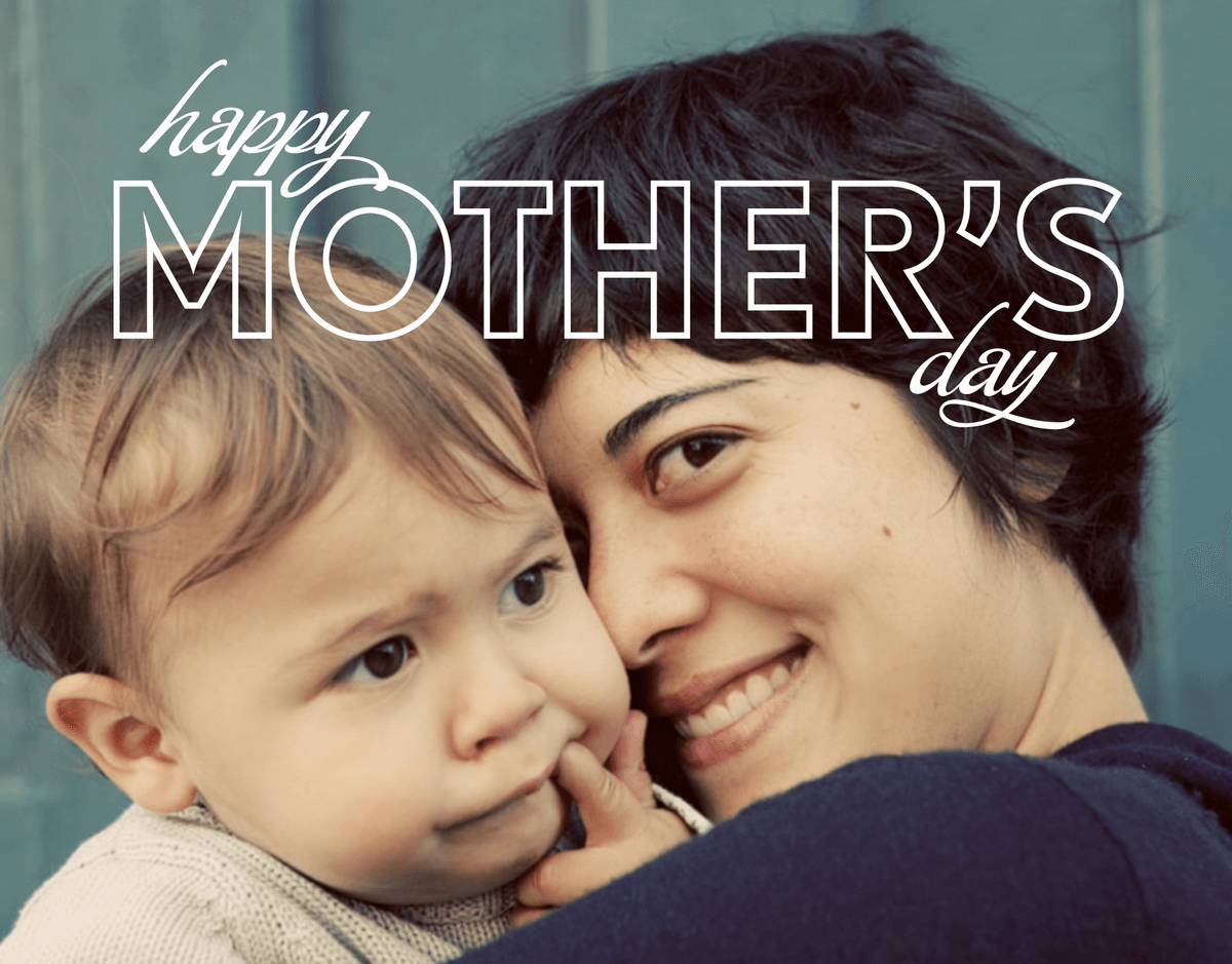 Modern Outlined Mother's Day Card