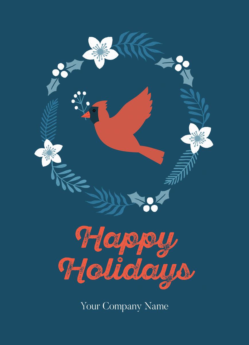 Cardinal Wreath Holiday
