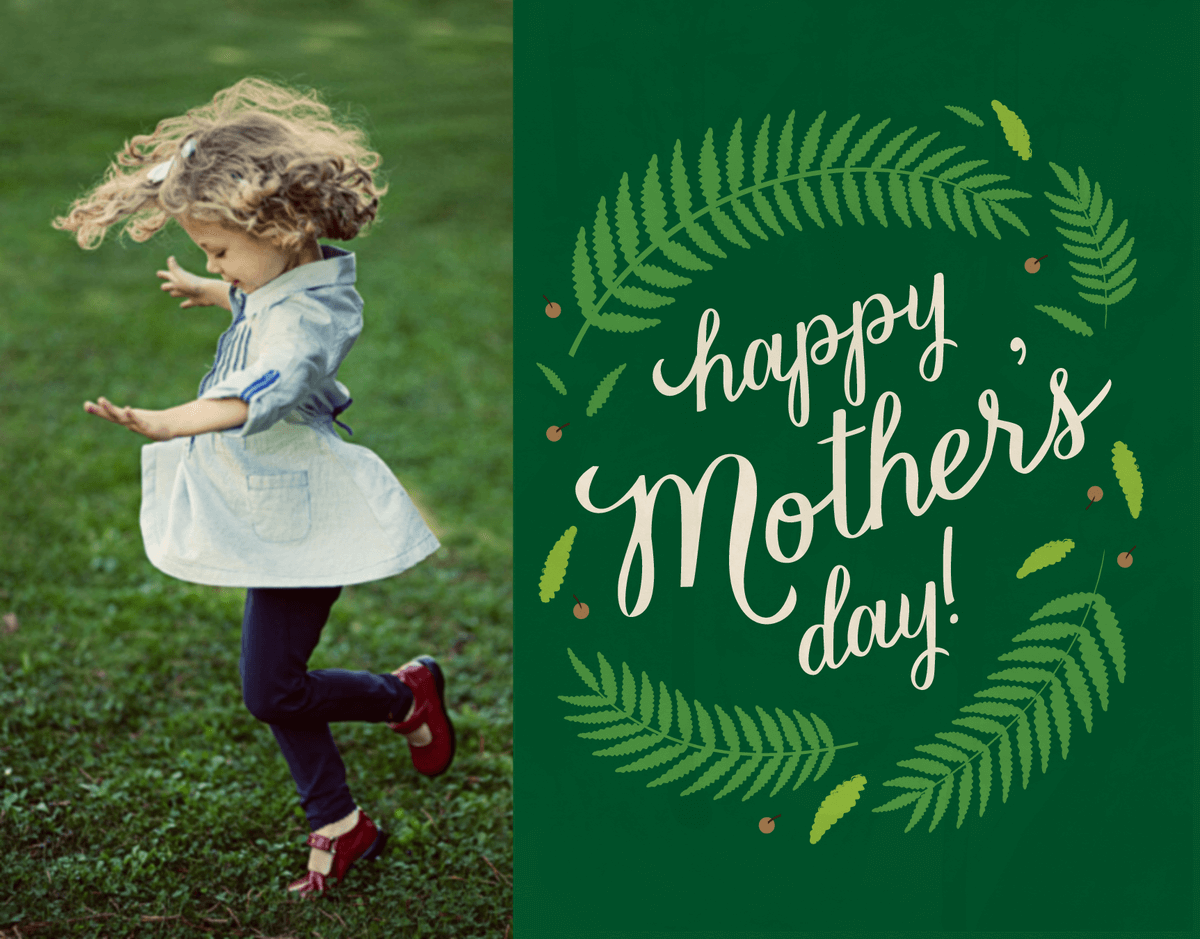 Fern Photo Mother's Day Card