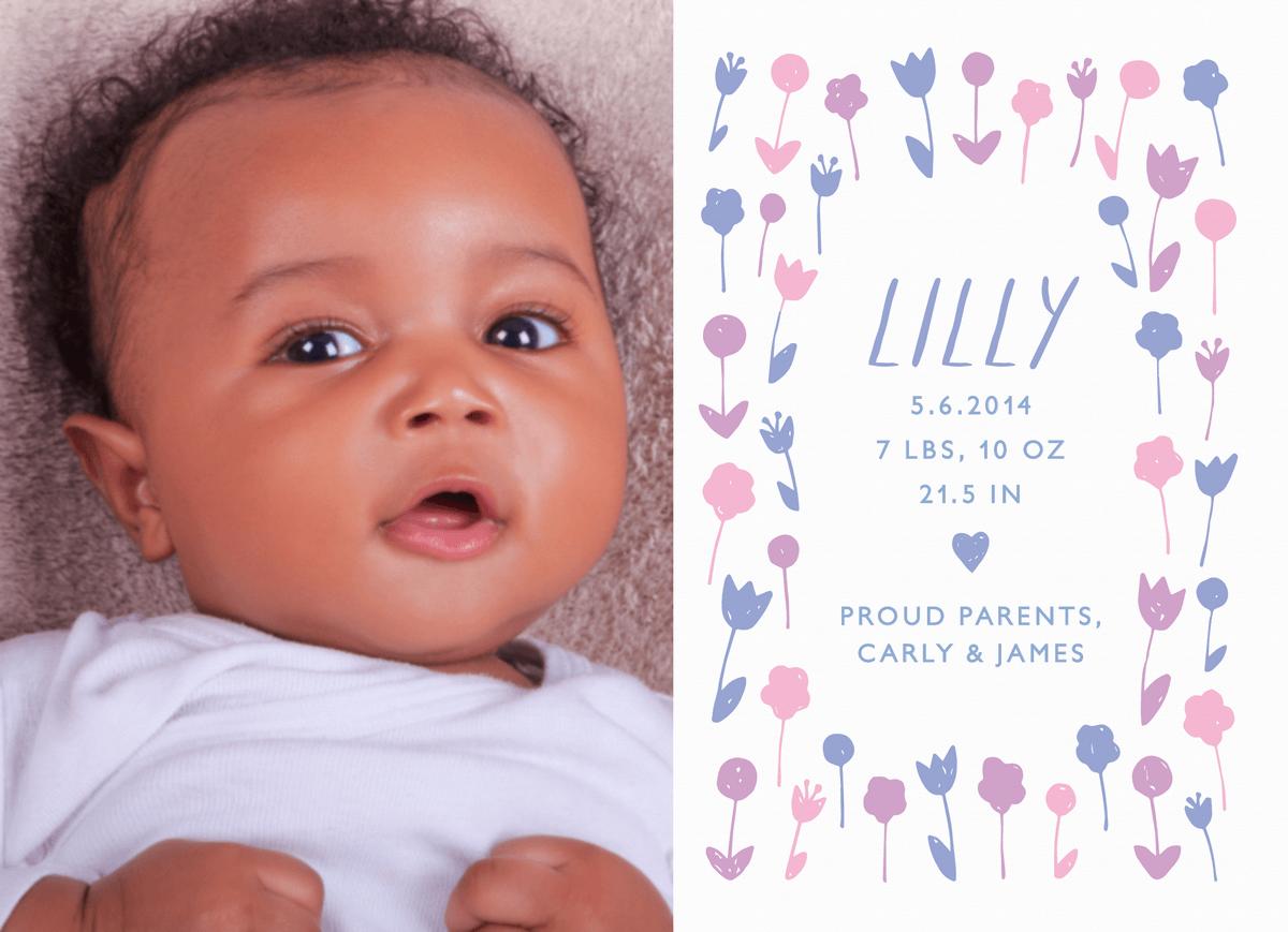 Sweet Garden Birth Announcement