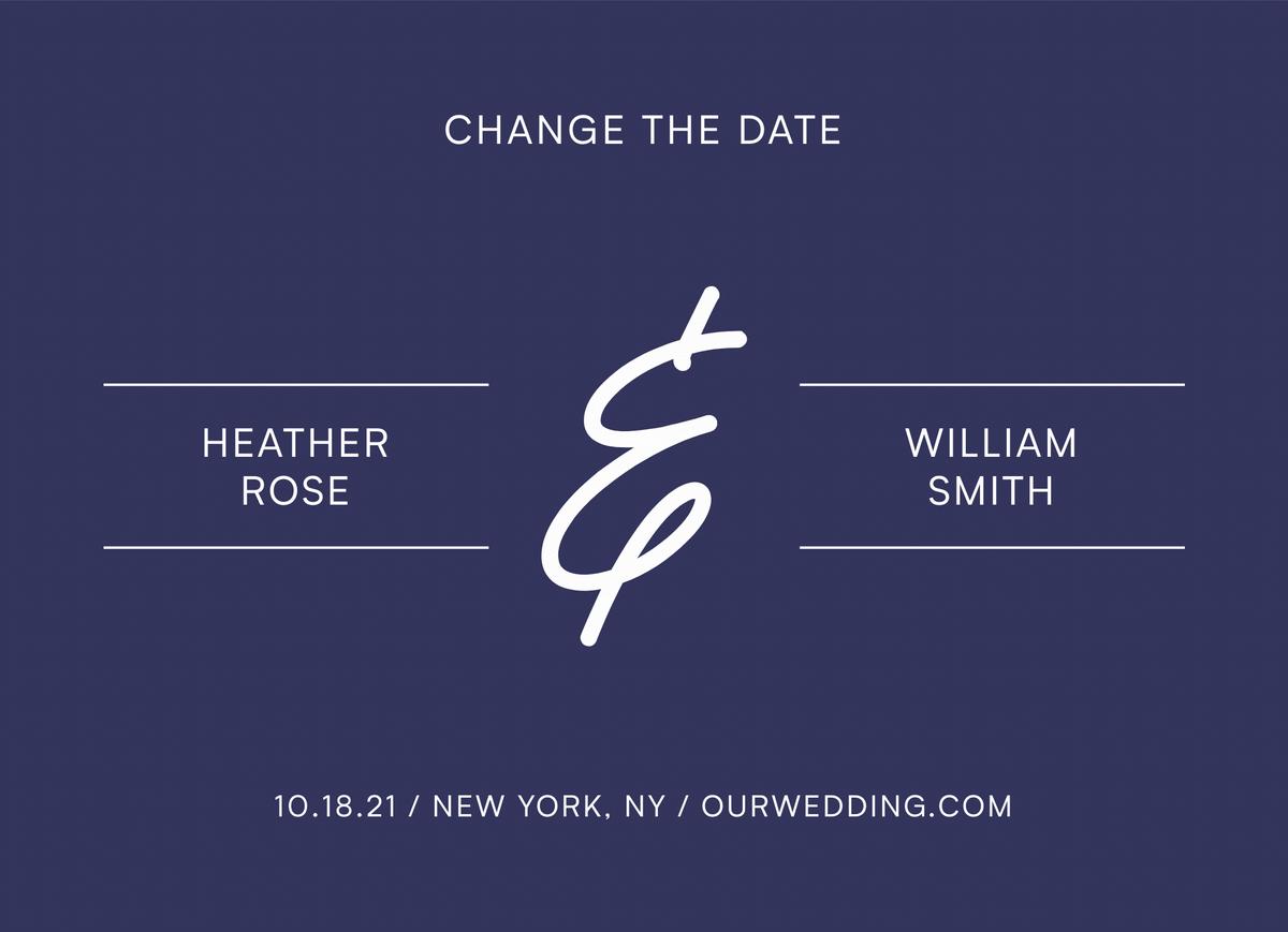 Modern Mark Change The Date