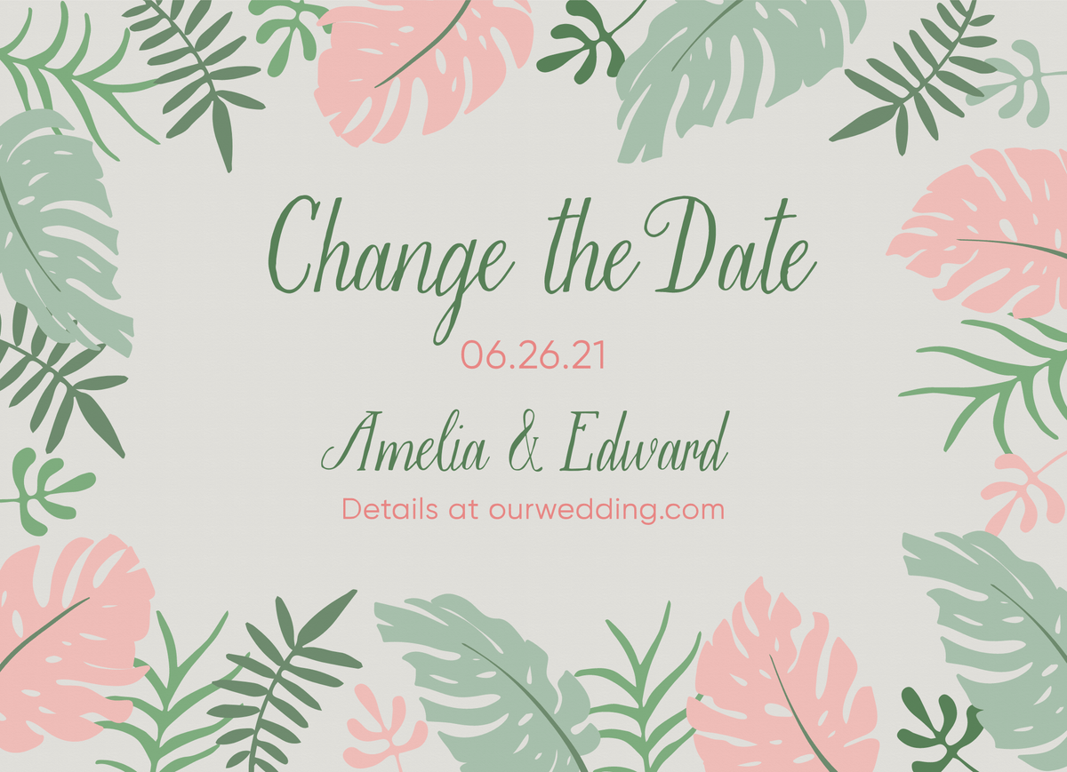 Tropical Leaves Change The Date