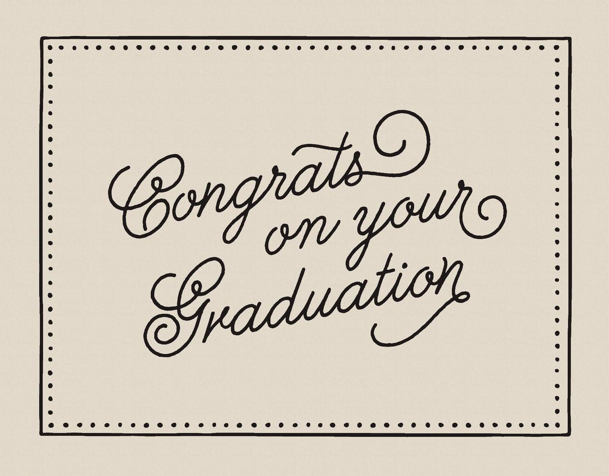Bordered Graduation Congrats Card