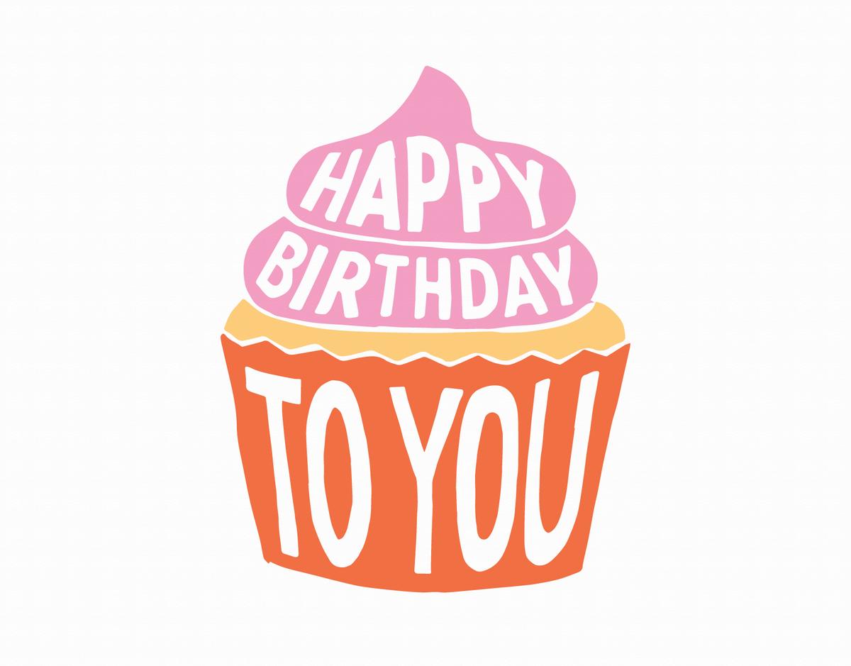 Bright Cupcake Birthday Card