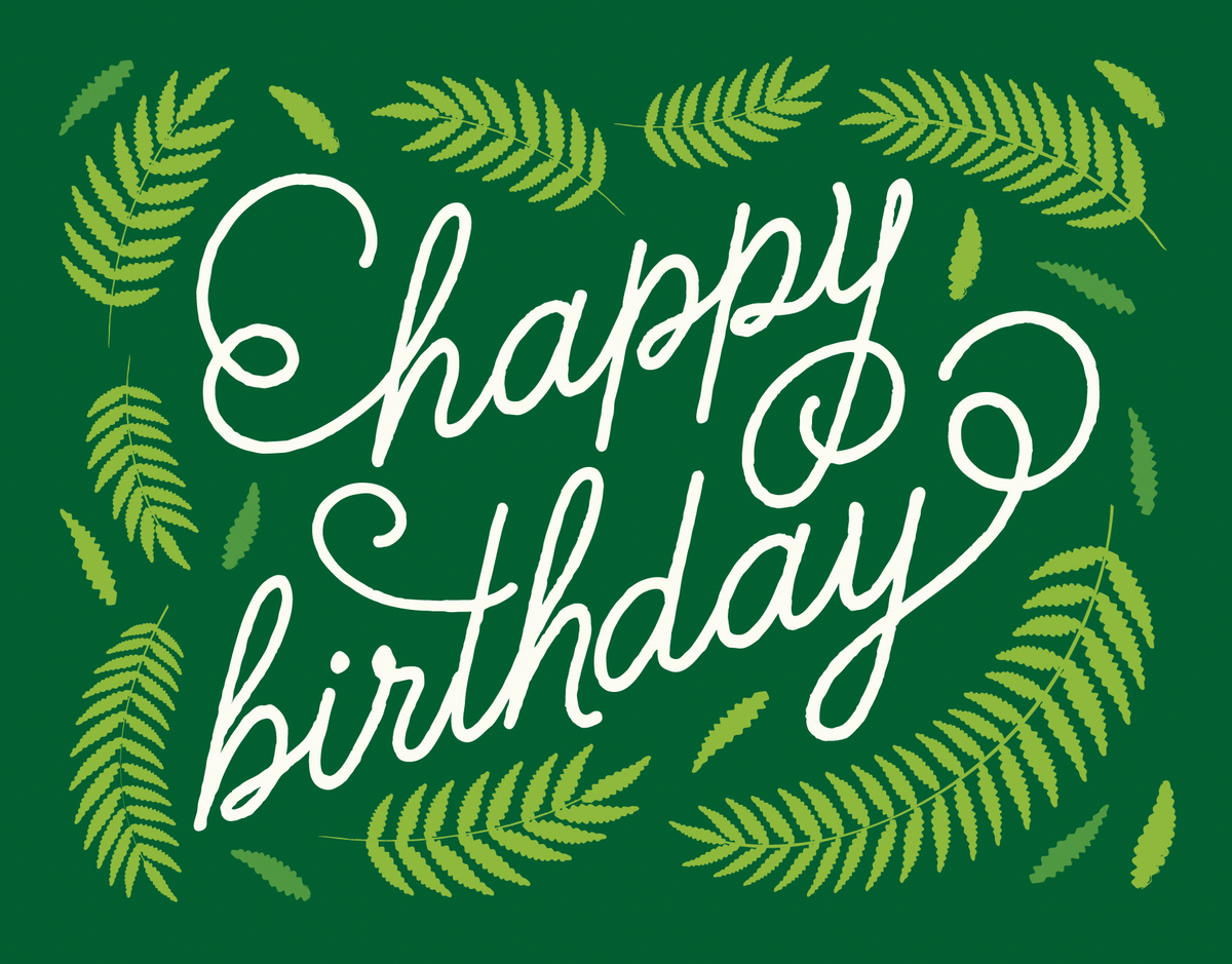 Fern Happy Birthday Card