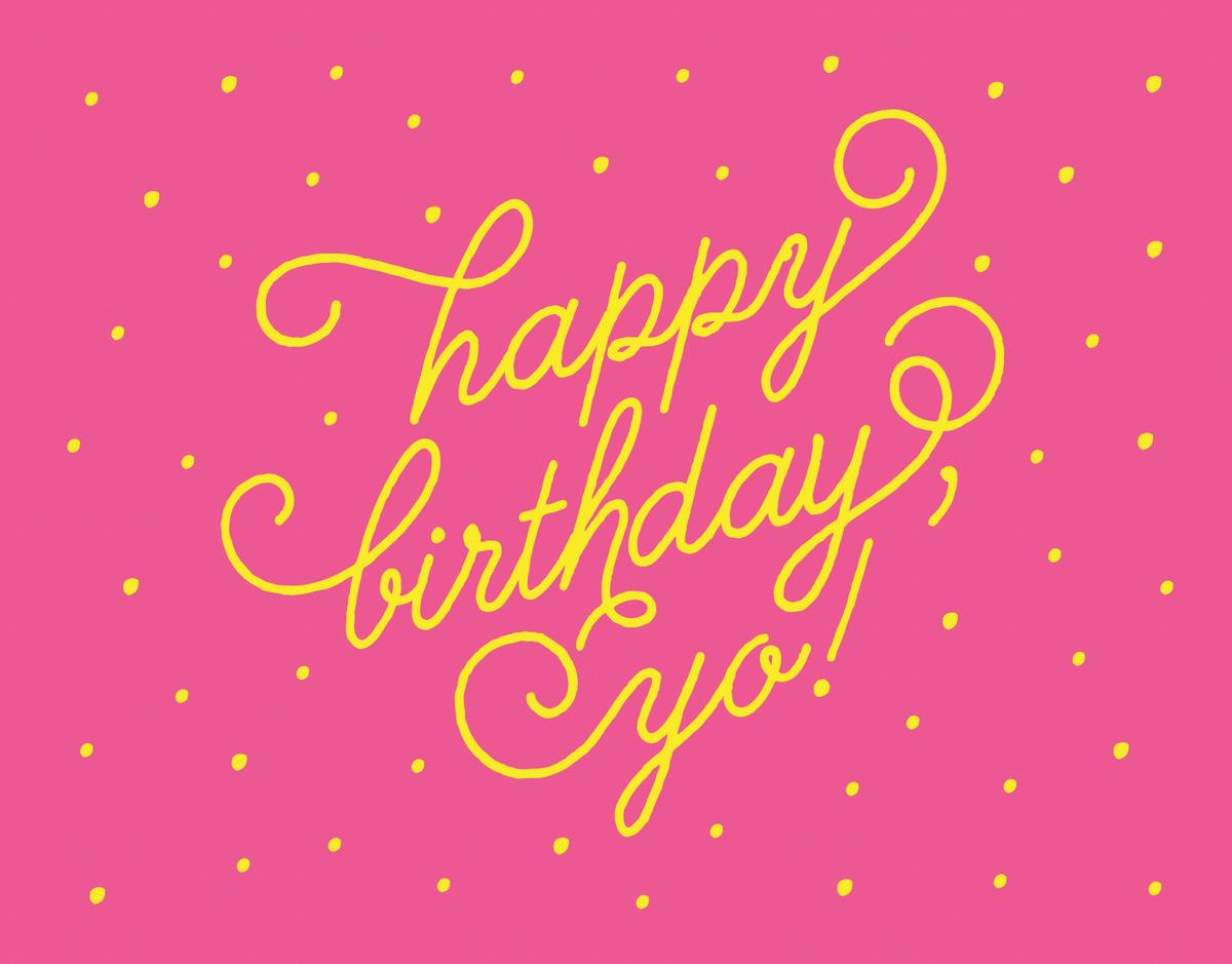 Cute Flourish Happy birthday Card
